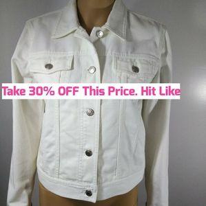 Lauren Jeans Co. White Jean Jacket
